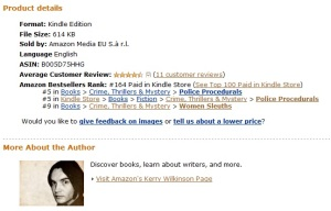 Locked In's Kindle chart position on Sep 2, 2011
