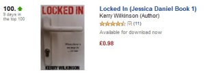 Locked In has been in the Kindle Crime top-100 for nine days