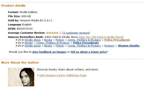 Vigilante's Kindle chart position on Sep 2, 2011