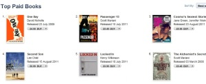 Locked In at No.5 in the iTunes / iBooks chart